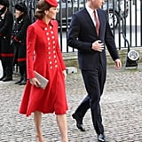 Kate Middleton's Red Catherine Walker Coat March 2019