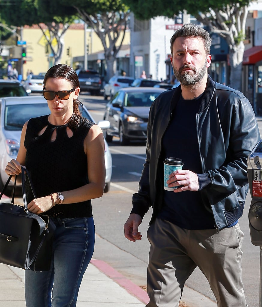 After supporting his brother at the LA premiere of Amazon's Manchester by the Sea on Monday, Ben Affleck reunited with Jennifer Garner for breakfast in Santa Monica on Saturday morning. The estranged couple stayed close as they walked alongside each other on the street. Although Ben and Jennifer announced their plans to divorce back in June, rumors recently began swirling again that the former couple could be reconciling. While Ben and Jen have yet to address the reports, they have made it clear in the past that they're maintaining a united front for the sake of their kids, so it looks like we'll just have to wait and see.      Related:                                                                                                           11 Things Ben Affleck and Jennifer Garner Have Said About Each Other Since Their Split