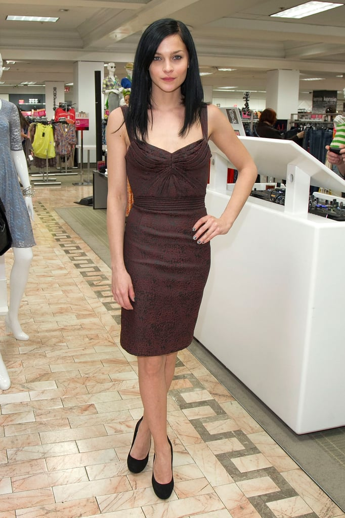 Leigh Lezark stepped out to DJ the Lord & Taylor launch.