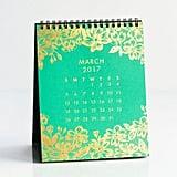 Paper Source Gold Foil Desk Easel Desk Calendar ($23)
