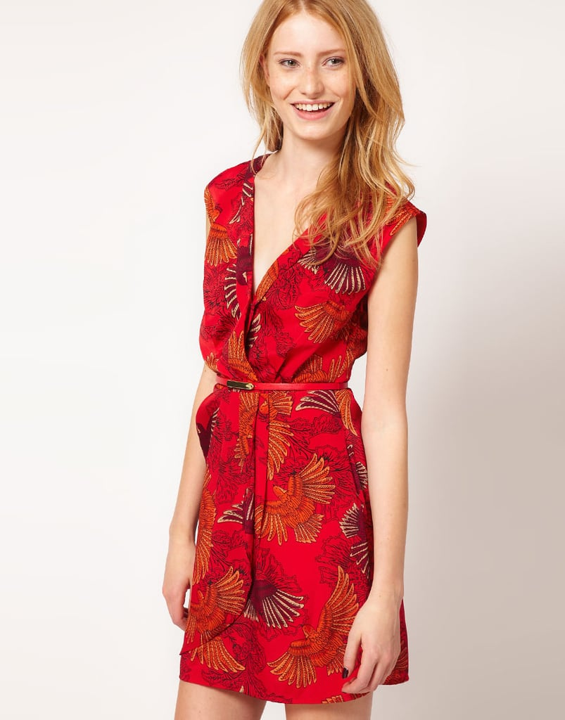 Adopt a standout print and fiery color into your dress routine with this Oasis Bird Print Dress ($95) — a perfect party dress.