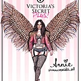 Drawing of Ashley Graham as a Victoria's Secret Angel