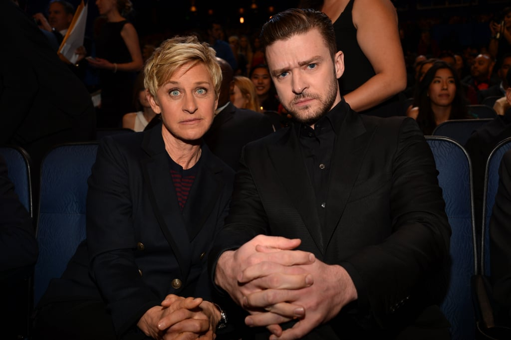 Justin Timberlake and Ellen DeGeneres got silly together throughout the night, even after Ellen tried to accept Justin's award for him.