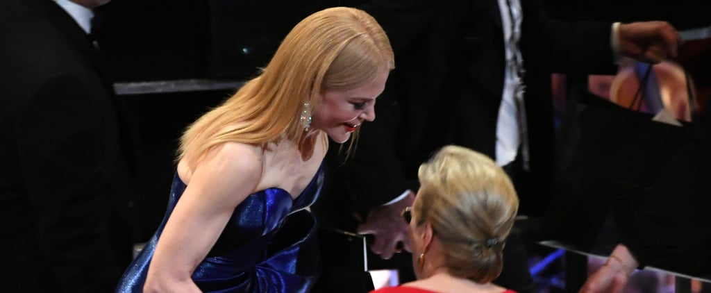 Meryl and Nicole Linked Up at the Oscars — Do You Think They Shared Big Little Lies Secrets?