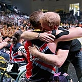 Harry hugged a competitor at the 2016 Invictus Games in Orlando.