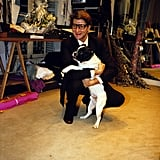 Another loving moment with his trusty companion Moujick in his workshop in 1982.