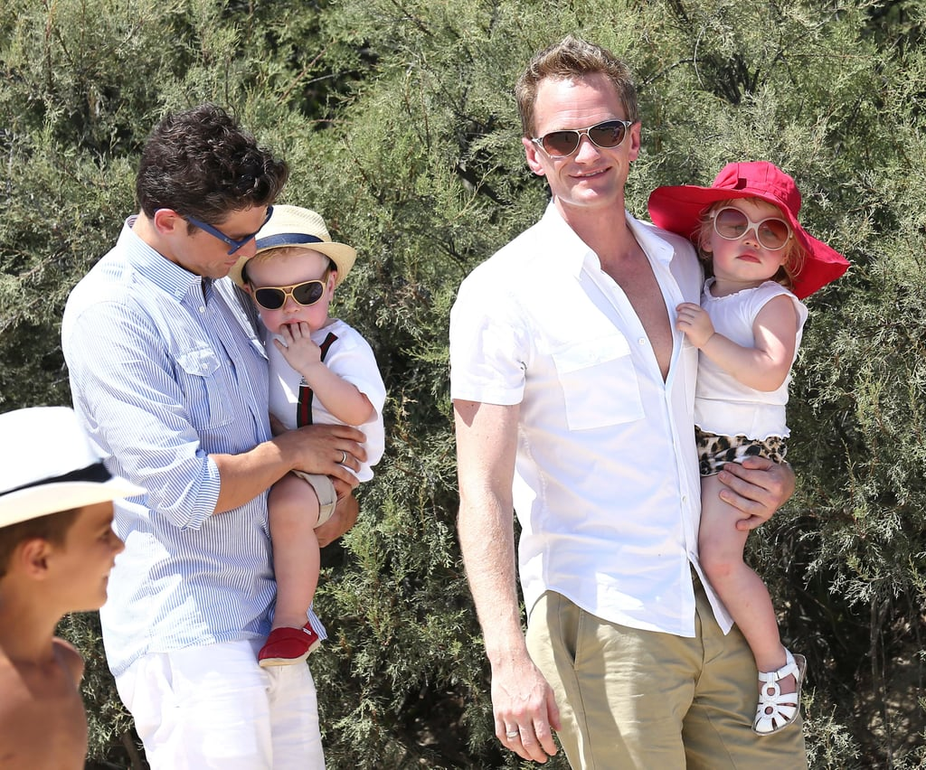 Neil Patrick Harris and David Burtka vacationed with Gideon Burtka-Harris and Harper Burtka-Harris in Saint-Tropez.