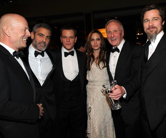 Slide Photo of Bruce Willis, George Clooney, Matt Damon, Angelina Jolie, Brad Pitt, Jerry Weintraub