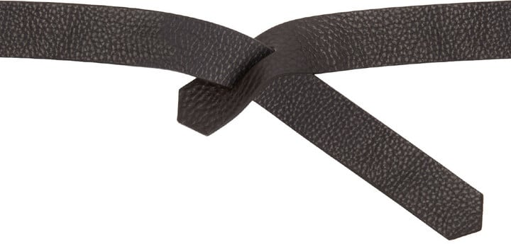 Isabel Marant Black Leather Lassie Belt ($100)