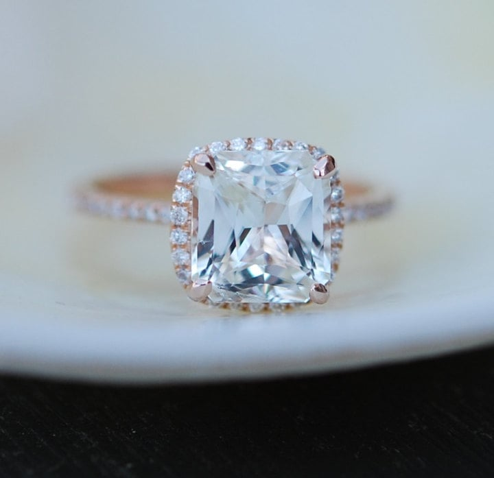 Etsy White Sapphire Ring