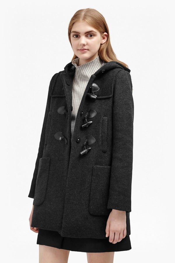 French Connection Teddy Check Hooded Duffle Coat ($498)