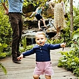 Prince Louis at the Chelsea Flower Show in 2019 Wearing Prince George's Shorts