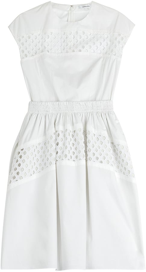 Carven Cotton Dress with Cut-Out Detail ($750)
