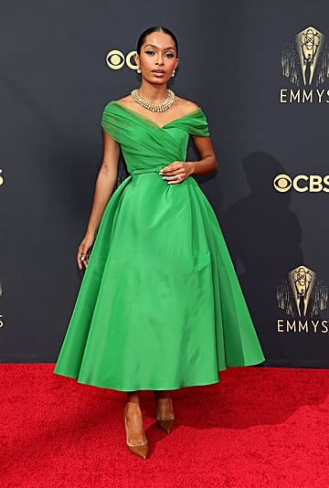 Yara Shahidi's Green Dior Haute Couture Dress at the Emmys