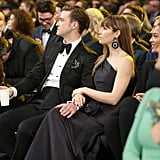 Justin Timberlake and Jessica Biel With Beyonce at Grammys