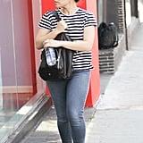 America Ferrera Wearing Topknot Hairstyle