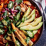 Mexican Chicken Soup With Charred Baby Corn