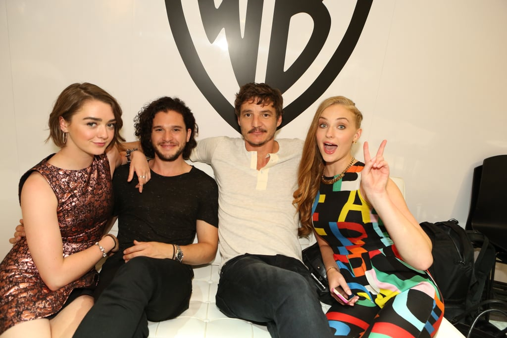 Game of Thrones stars Maisie Williams, Kit Harington, Pedro Pascal, and Sophie Turner let loose on Friday.