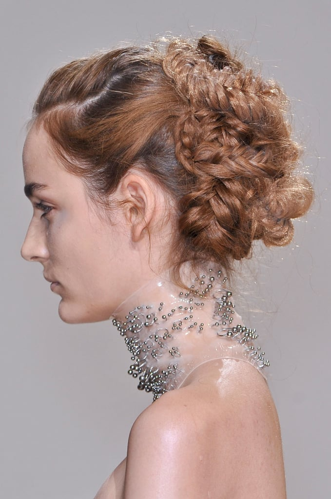 The woven updo at Iris van Herpen reminded us of Sarah Jessica Parker's Met Gala braids.