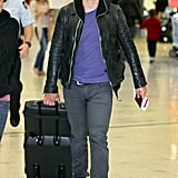 Orlando Bloom made his way through the Sydney airport.