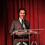 Matthew McConaughey joked at the podium.