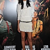 Liya Kebede's white look was breezy and boho with just a hint of Victorian detail on her lacy blouse.