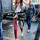 Gigi has even proved you can rock a pair during the Winter.