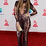 Jennifer Lopez's Naked Jumpsuit at Latin Grammy Awards 2016