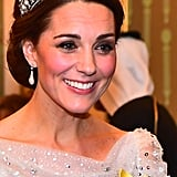 Kate Middleton's Lover's Knot Tiara and Chignon, 2018