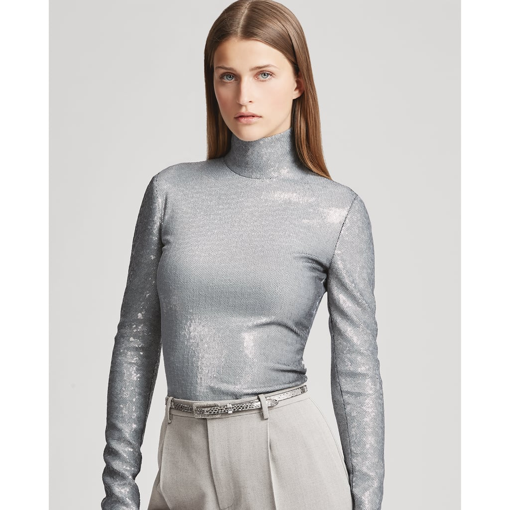 Ralph Lauren Collection Rosalia Sequined Turtleneck