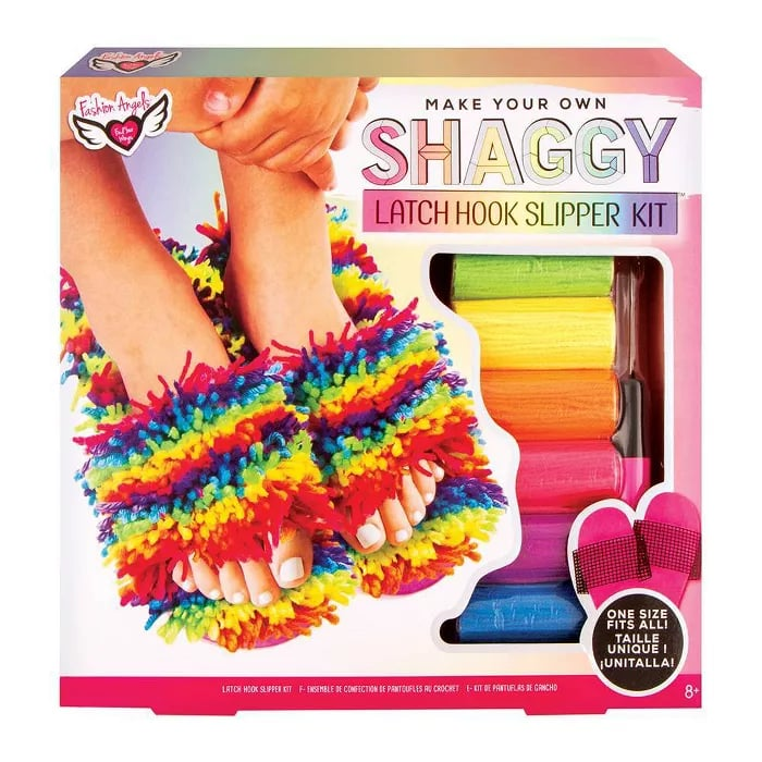 Make Your Own Shaggy Latch Hook Slipper Kit