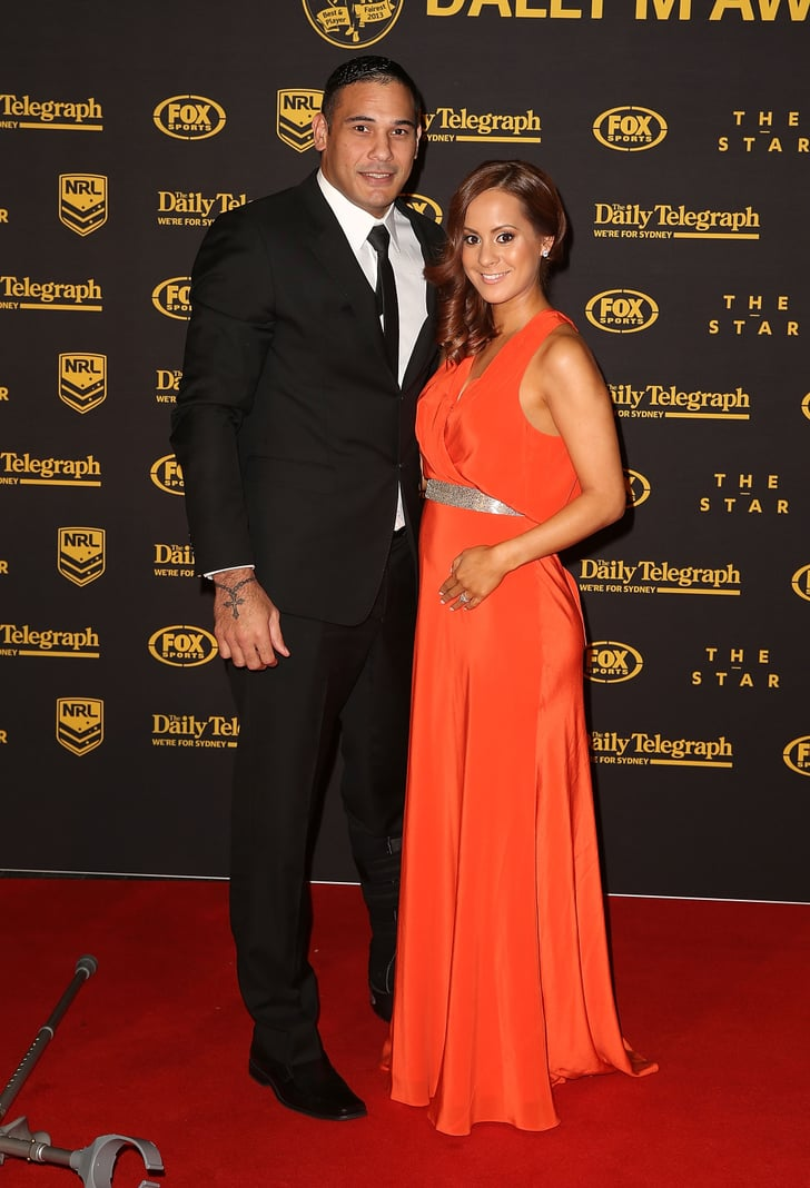 Tom Hodges Auto >> Justin and Gyanne Hodges | 2013 Dally M Awards NRL Players ...