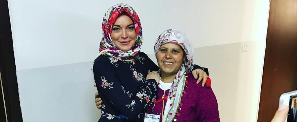 Lindsay Lohan at Refugee Camp in Turkey | October 2016