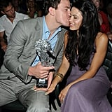 Channing Tatum kissed his wife on the cheek during the July 2010 Ischia Film Festival.