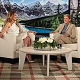 J Lo White Outfit on Ellen 2018