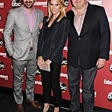 Ty Burrell, Julie Bowen, and Eric Stonestreet had a moment on the black carpet.