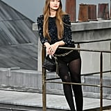 Gigi Hadid With a Chanel Bag on the Runway During Paris Fashion Week