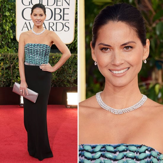 See Olivia Munn in Giorgio Armani at 2013 Golden Globes