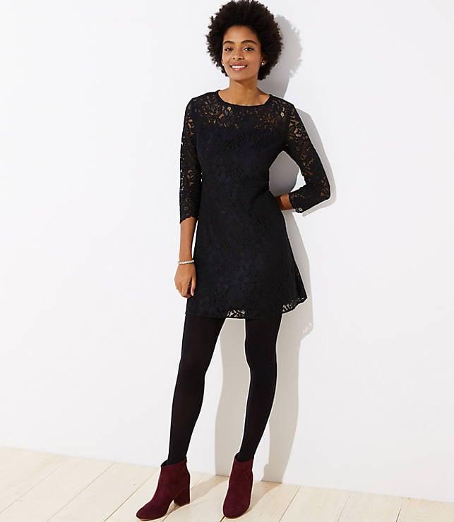 Cutout Back Lace Dress