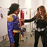 La Toya Jackson was very hands-on in giving the girls advice and suggestions for pulling off her brother's look.  Photo courtesy of CW