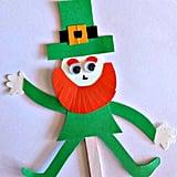 Popsicle Stick Leprechaun Puppet