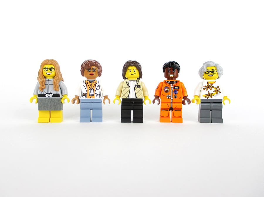 All of the Lego minifigures.
