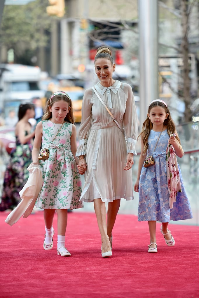 Sarah Jessica Parker had two very special dates to the New York City Ballet Spring Gala in Manhattan on Thursday — her two adorable daughters, 8-year-old twins Tabitha and Marion Loretta. Sarah hit the red carpet in a ice blue dress, while her girls wore sweet floral dresses to go along with the springtime theme. Both Sarah and her husband Matthew Broderick are on the honorary committee of the New York City Ballet and routinely attend the event, though this is the first time they've brought along their daughters, who were born via surrogate in June 2009. We last saw Tabitha and Marion Loretta with their big brother James Wilkie at the opening night of Charlie and the Chocolate Factory on Broadway back in April 2017.      Related:                                                                                                           Sarah Jessica Parker Endorses Cynthia Nixon's Run For Governor in the Sweetest Way               This isn't the first gala Sarah has popped up at this week, and there's a pretty big one on the horizon that she may or may not attend; on Monday, the Divorce star linked up with Laverne Cox and Molly Ringwald at Planned Parenthood's Spring bash, and next Monday, we'll have our eyes peeled for Sarah on the red carpet at the annual Met Gala. While she didn't take on the famous staircase in 2017, we're really hoping she'll get back in the game this year. Keep reading to see SJP and her girls on their mother-daughter date night.