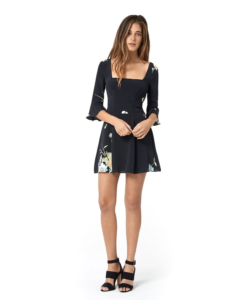 The Emily Dress in Black Floral ($250)