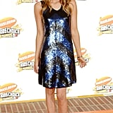 Emma Roberts sparkled in a sequined minidress in 2007.