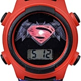 DC Comics Superman Red Bezel and Black Strap LCD Kids Watch