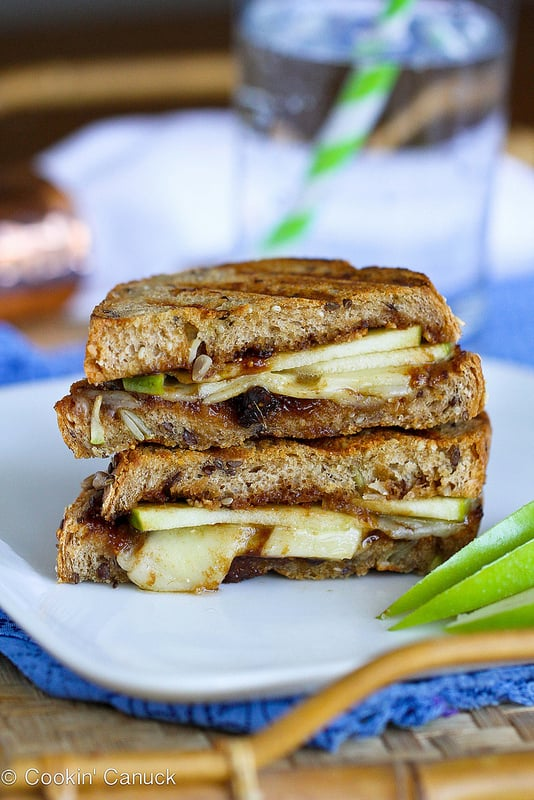 Gruyère, Apples, and Fig Panini