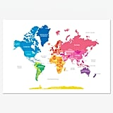Bright World Map ($30)