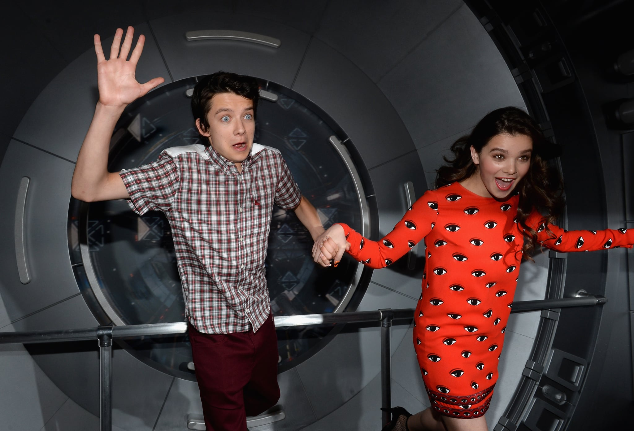 Ender's Game stars Asa Butterfield and Hailee Steinfeld were blown away during a press event for the movie in 2013.