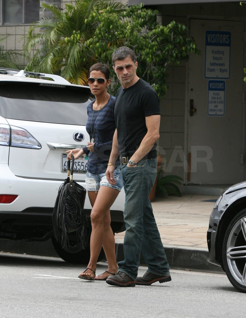 Halle Berry and Olivier Martinez held hands in West Hollywood.